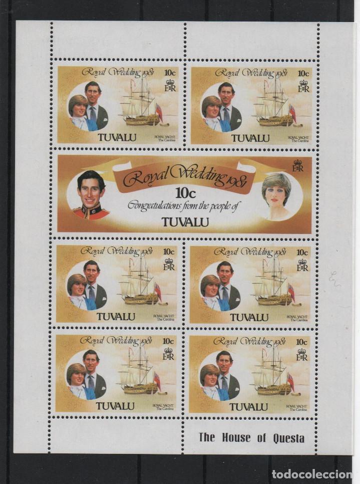 SERIE COMPLETA DE TUVALU. BODA DEL PRINCIPE CARLOS (Sellos - Extranjero - Oceanía - Otros paises)