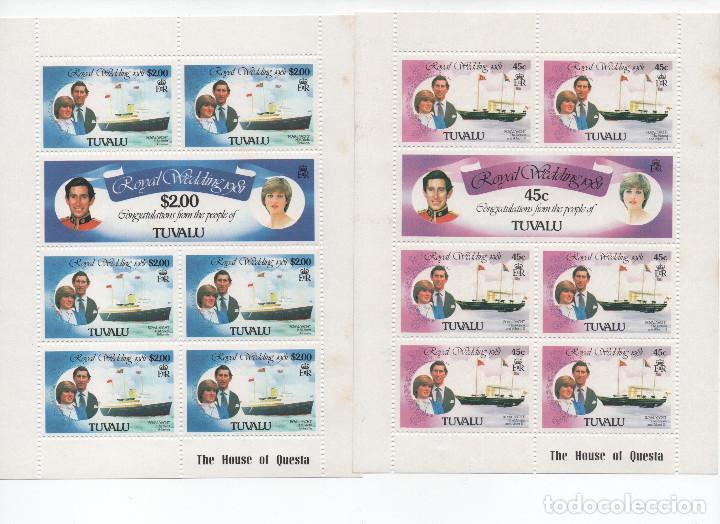 Sellos: Serie completa de Tuvalu. Boda del Principe Carlos - Foto 2 - 183866566