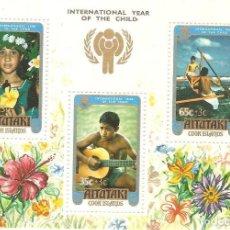 Sellos: COOK ISLANDS,1979,HOJITA YT BF 26,NUEVA,GOMA ORIGINAL,SIN FIJASELLOS.. Lote 186367438