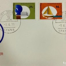 Sellos: SOBRE PRIMER DIA. FIRST DAY COVER. AIR MAIL. PACIFIC GAMES. PORT MORESBY. PAPUA NEW GUINEA, 1971. . Lote 186855627