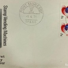 Sellos: SOBRE PRIMER DIA. FIRST DAY COVER. STAMP VENDING MACHINES. PORT MORESBY. PAPUA NEW GUINEA, 1971. . Lote 186857372