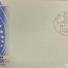 Sellos: SOBRE PRIMER DIA. 25TH ANNIVERSARY SOUTH PACIFIC COMMISION. PORT MOREBY. PAPUA NEW GUINEA, 1972. Lote 186864090