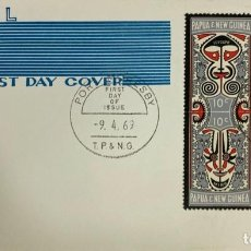 Sellos: SOBRE PRIMER DIA. AIR MAIL. FIRST DAY COVER. PORT MOREBY. PAPUA NEW GUINEA, 1969.. Lote 186866358