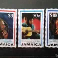 Sellos: 3 SELLOS USADOS DE BOB MARLEY DE JAMAICA. Lote 190216970
