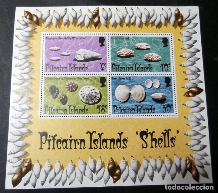 SELLOS PITCAIRN ISLANDS SHELLS (Sellos - Extranjero - Oceanía - Otros paises)