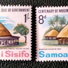 Timbres: SAMOA. 200/01 CENTENARIO SEDE GUBERNAMENTAL EN MULTINU'U. 1967. SELLOS NUEVOS CON CHARNELA Y NUMERAC. Lote 204786008
