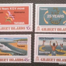 Sellos: GILBERT. 63/66 RETORNO ESCUELA REY GEORGE V A TARAWA. 1978. SELLOS NUEVOS Y NUMERACIÓN YVERT.. Lote 205084070