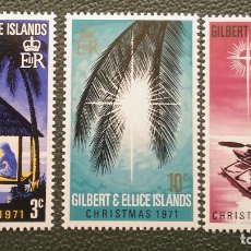 Sellos: GILBERT & ELLICE. 185/87 NAVIDAD: BELÉN, ESTRELLAS. 1971. SELLOS NUEVOS Y NUMERACIÓN YVERT.. Lote 205084076