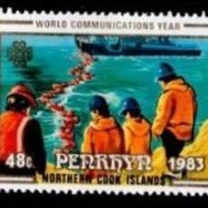 Sellos: PENRHYN 1983 WORLD COMMUNICATIONS YEAR MI.315-317 MNH M.021. Lote 205591433