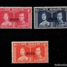 Sellos: NIUE 59/61* - AÑO 1937 - CORONACION DE JORGE VI. Lote 205706151