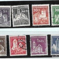 Francobolli: 1960-CHECOSLOVAQUÍA. CASTILLOS. Lote 208110192