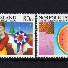 Sellos: NORFOLK 1985 IVERT 366/7 *** 125º ANIVERSARIO EXPOSICIÓN AGRICOLA Y HORTICOLA DE LA ISLA. Lote 209930818