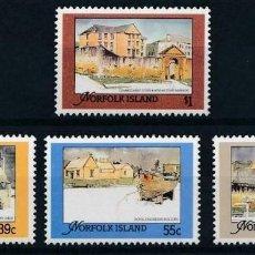 Sellos: NORFOLK 1988 IVERT 443/6 *** EDIFICIOS HISTÓRICOS DE LA ISLA. Lote 209931227
