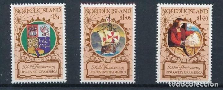 NORFOLK 1992 IVERT 510/2 *** 500º ANIVERSARIO DEL DESCUBRIMIENTO DE AMERICA POR CRISTOBAL COLON (Sellos - Extranjero - Oceanía - Otros paises)