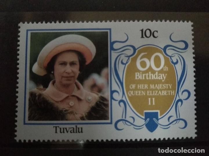 TUVALU 1986 60 TH BIRTHDAY QUEEN ELIZABETH II (Sellos - Extranjero - Oceanía - Otros paises)