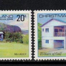 Sellos: CHRISTMAS 134/35** - AÑO 1980 - 25º ANIVERSARIO DEL CLUB DE GOLF DE LA ISLA. Lote 210065547