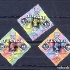 Sellos: TUVALU - N°533 À 535 - 150E ANIVERSARIO DEL 1º SELLO. Lote 210522631