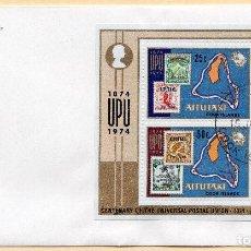 Sellos: SOBRE 1R.DIA CENTENARIO UPU, 1974, IRAQ, MICHEL BL2. Lote 213964236