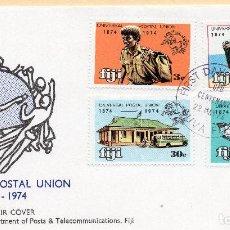 Sellos: SOBRE 1R.DIA CENTENARIO UPU, 1974, FIJI, MICHEL 320-323. Lote 213964621