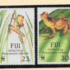 Sellos: FIJI SERIE MNH 1988 MICHEL 586 A 589 WWF. Lote 215500736
