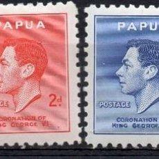 Sellos: PAPUA NEW GUINEA/1937/MH/SC#118-121/ REY JORGE VII / KGVII / REALEZA / SET COMPLETO. Lote 215502270