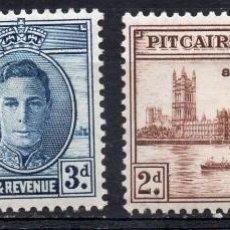 Sellos: PITCAIRN ISLAND/1946/MH/SC#9-10/ EMISION DE PAZ / REY JORGE VI / KGVI / EDIFICIO PARLAMENTO LONDRES. Lote 215504082