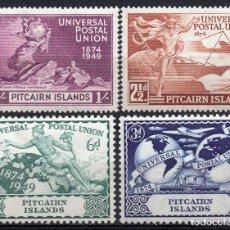 Sellos: PITCAIRN ISLAND/1949/MH/SC#13-16/ UPU / UNION POSTAL UNIVERSAL. Lote 215504168