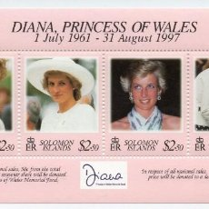 Sellos: SOLOMON IS/1997/MNH/SC#867/ PRINCESA DIANA DE GALES(1961-97). Lote 215577942