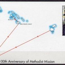 Sellos: SOLOMON IS/2002/MNH/SC#941/ 100º ANIVERSARIO DE MISION METODISTA/ GOLDIE Y SAM AQARAO. Lote 215582210