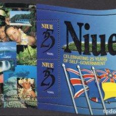 Sellos: NIUE/1999/MNH/SC#740/ 25 ANIVERSARIO DE AUTOGOBIERNO. Lote 215718286