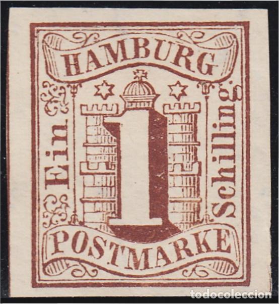 ALEMANIA HAMBURGO 2 1859 ESCUDO SHIELD MH (Sellos - Extranjero - Oceanía - Otros paises)