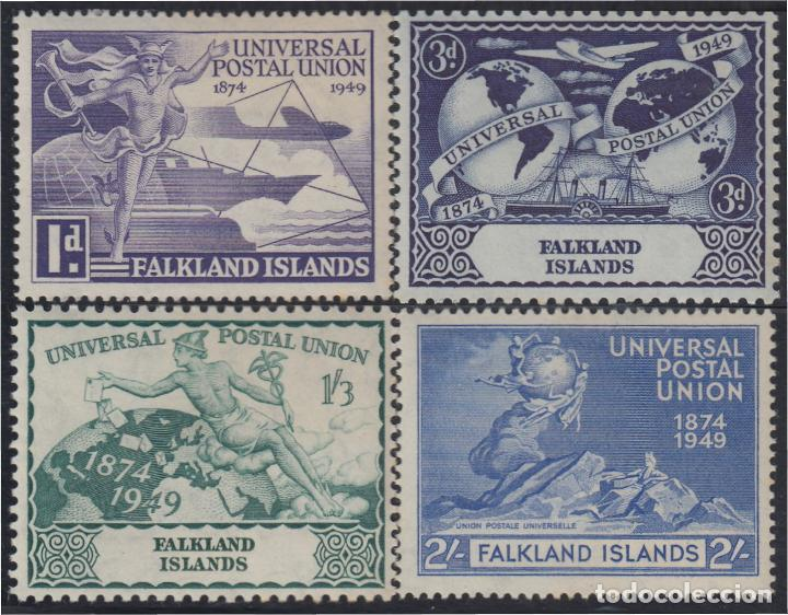 FALKLAND ISLANDS ISLAS MALVINAS 97/00 1949 75 ANIVERSARIO DE LA UPU MNH (Sellos - Extranjero - Oceanía - Otros paises)
