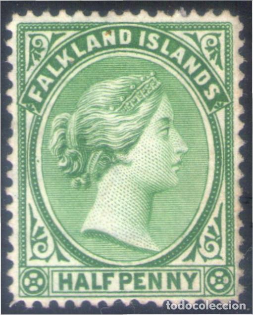 FALKLAND ISLANDS ISLAS MALVINAS 8 1891 VICTORIA MH (Sellos - Extranjero - Oceanía - Otros paises)