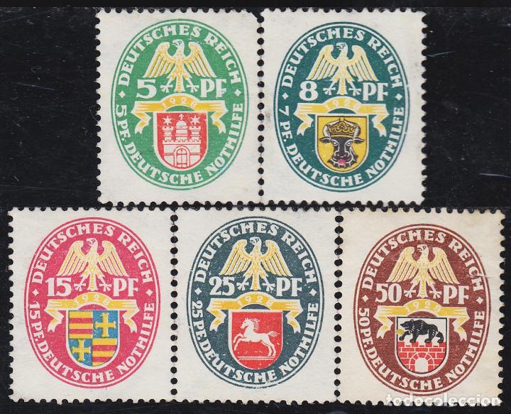 ALEMANIA 416/20 1928 ESCUDOS SHIELDS MNH (Sellos - Extranjero - Oceanía - Otros paises)