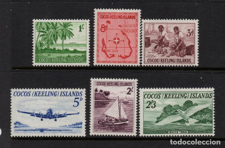 COCOS 1/6** - AÑO 1963 - FAUNA - AVES - AVIONES - BARCOS - MAPAS (Sellos - Extranjero - Oceanía - Otros paises)