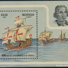 Sellos: NICARAGUA HB 153 1982 490º ANIVERSARIO DESC. AMÉRICA COLON COLUMBUS MNH. Lote 218565270
