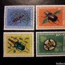 Francobolli: NUEVA GUINEA HOLANDESA YVERT 64/7 SERIE COMPLETA NUEVA *** 1961. FAUNA INSECTOS ESCARABAJOS. Lote 219575056