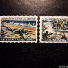 Francobolli: NUEVA GUINEA HOLANDESA YVERT 71/2 SERIE COMPLETA NUEVA *** 1962. CONFERENCIA DEL PACÍFICO. PLAYAS.. Lote 219575382