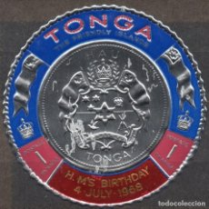 Sellos: TONGA/1968/MNH/SC#209/ 50º CUMPLEAÑOS DE SU MAJESTAD / REALEZA. Lote 221341691