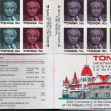 Sellos: TONGA/1988/MNH/SC#659A/CORONACION REY TAUFA ´AHUA 20º ANIVERSARIO /BOOKLET. Lote 221343885