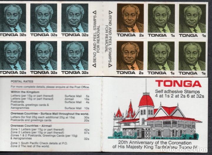 TONGA/1988/MNH/SC#659B/CORONACION REY TAUFA ´AHUA 20º ANIVERSARIO /BOOKLET (Sellos - Extranjero - Oceanía - Otros paises)