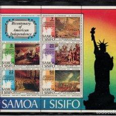 Sellos: SAMOA HB 10** - AÑO 1976 - BICENTENARIO DE LA INDEPENDENCIA DE ESTADOS UNIDOS. Lote 221593763