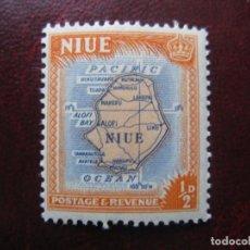 Sellos: NIUE, 1950, MAPA DE LA ISLA, YVERT 80. Lote 222537223