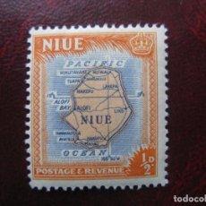 Sellos: NIUE, 1950,MAPA DE LA ISLA, YVERT 80. Lote 222537341