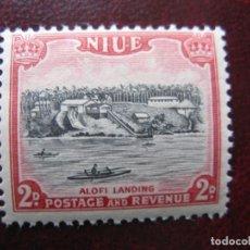 Sellos: NIUE, 1950, PLAYA DE ALOFI, YVERT 82. Lote 222538338