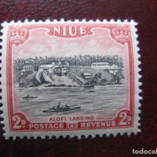 Sellos: NIUE, 1950, PLAYA DE ALOFI, YVERT 82. Lote 222538525