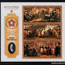 Sellos: AITUTAKI HB 8** - AÑO 1976 - BICENTENARIO DE LA INDEPENDENCIA DE ESTADOS UNIDOS. Lote 222579363