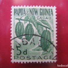 Sellos: +PAPUA NUEVA GUINEA, 1958, CACAO, YVERT 22. Lote 222811407