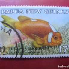 Sellos: +PAPUA NUEVA GUINEA, 1987, PECES, YVERT 534. Lote 222870581