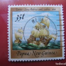 Sellos: +PAPUA NUEVA GUINEA, 1987, BARCOS HISTORICOS, YVERT 539. Lote 222870910